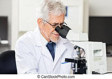 se, laboratorium mikroskop, forskare