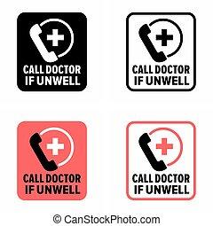 """se, unwell"""", """"call, dottore, 27/7, servizio medico"""