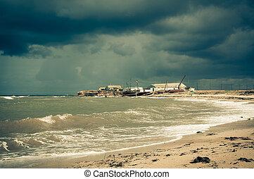sea., πάνω , καταιγίδα