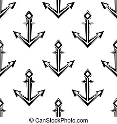 Sea anchor seamless pattern