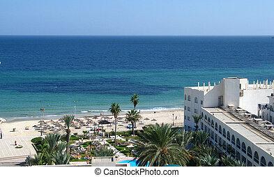 Sea and beach in Tunisia