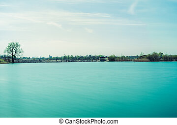 sea and blue sky landscape