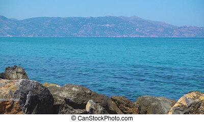 Sea and Crete island at daytime, Greece