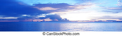 sea and evening sky in pattaya beach thailand.