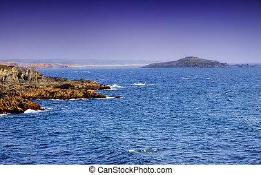 Sea and island near Porto Covo village
