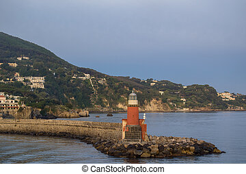 sea and lighthouse in the daytime Ischia Italy