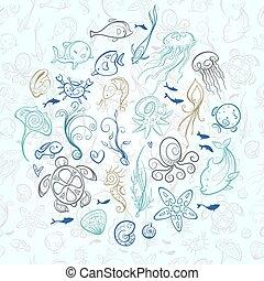 sea and ocean creatures