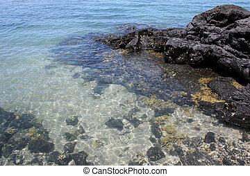 Sea and rocks in the Hauraki Gulf