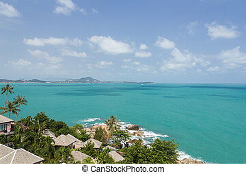Sea and Sky from Koh samui view point at samui island, Surat Thani Province, thailand