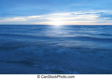 sea and sunshine in the morning