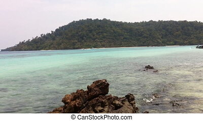 sea andaman tropical with white bea