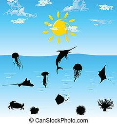 sea animal art vector illustration