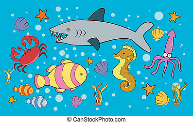 Sea Animal Doodle