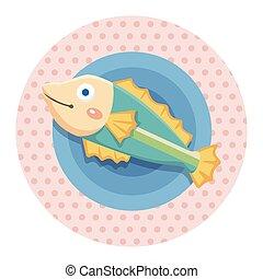 sea animal fish cartoon theme elements