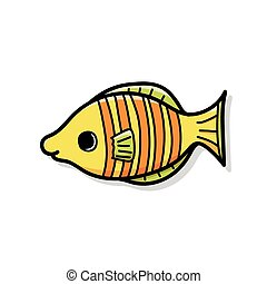 sea animal fish doodle