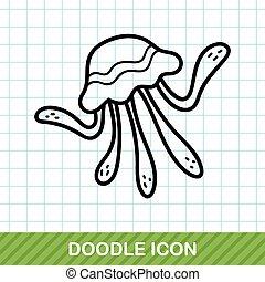 sea animal jellyfish doodle