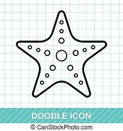 sea animal starfish doodle