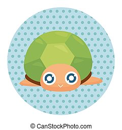 sea animal turtle cartoon theme elements