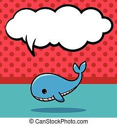 sea animal whale doodle