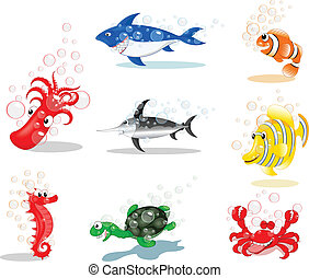 Sea Animals Cartoon