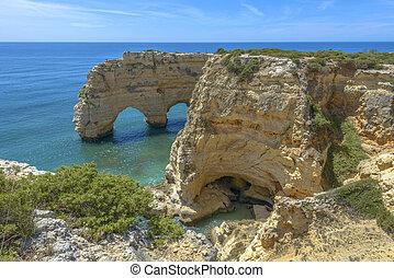 Sea Arch in Algarve, Portugal