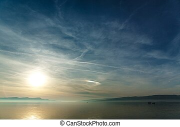 Sea at beautiful sunset