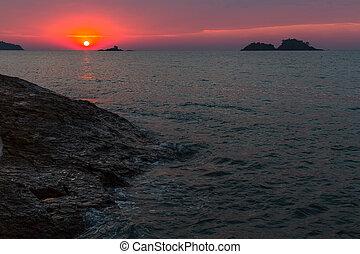 Sea at dusk.