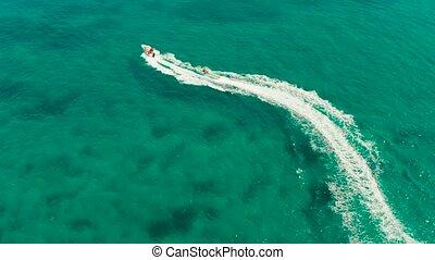 Sea attraction on the beach resort.Boracay island...
