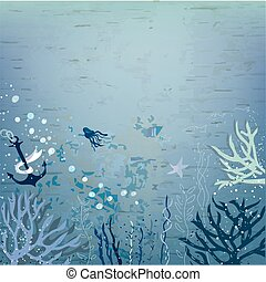Sea background for the card or banner
