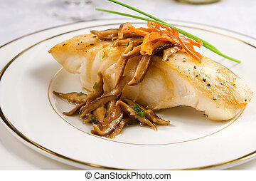 Sea bass with mushrooms - Pan seared Chilean sea bass with ...