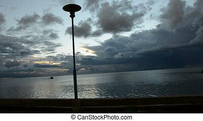 sea bay morning and boat