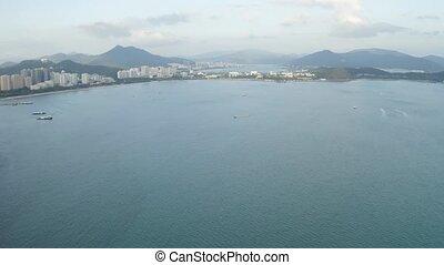 Sea bay view - Sea bay of Sanya, Hainan China panorama...