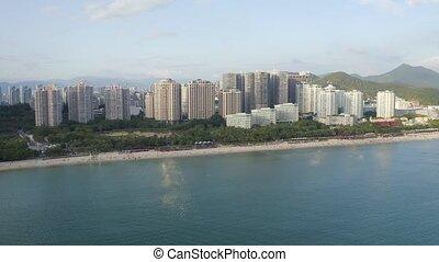 Sea bay view - Sea bay with hotels, resorts and beach...