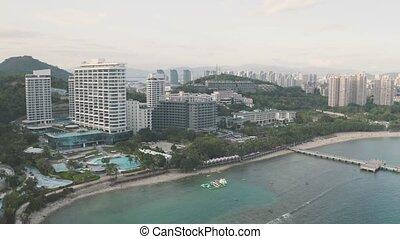 Sea bay view - Sea bay with hotels, resorts, harbor and...