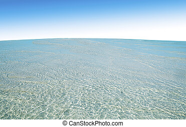 sea beach on blue sky