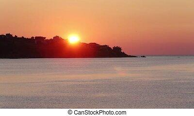 Sea Beach Sunrise View (Bulgaria). - Beautiful sea beach...