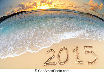 sea beach sunset 2015 new year - sea beach sunset shot made...
