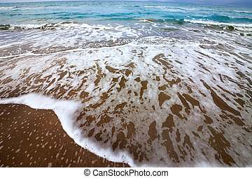 Sea beach with waves