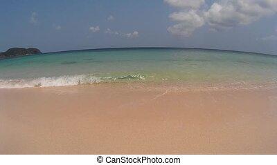 sea beach with white sand