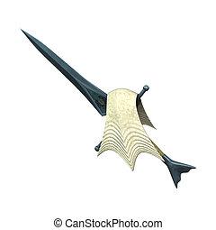 Sea Blade Dagger - 3D digital render of a sea blade dagger...