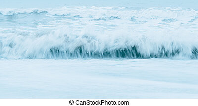 Sea blue waves.