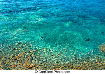 sea ??bottom with Stones in Mediterranean