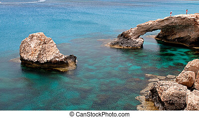 Sea caves Cape Greco area in Cyprus - Sea caves near Ayia...