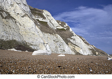 Part of the White cliffs of Dover in England
