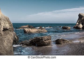 Sea coast and rocks