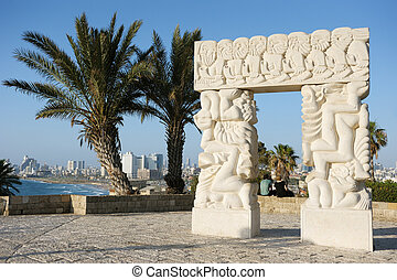 Sea coast and the view of Tel Aviv - Sea coast and the view ...