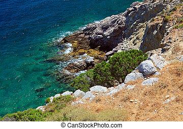 Sea coast in Greece