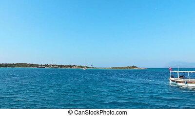 Sea coast in Turkey with clear blue