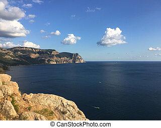 sea coast landscape blue sky nature summer