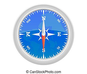 Sea compass on a white background